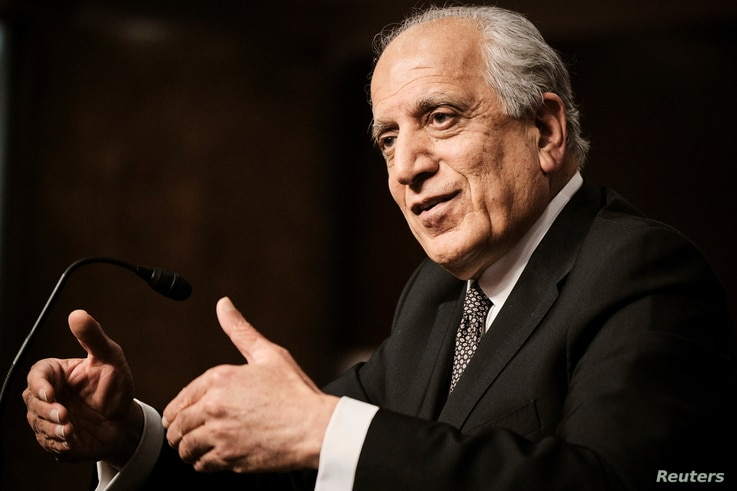 Zalmay Khalilzad, special envoy for Afghanistan Reconciliation, testifies during a Senate Foreign Relations Committee hearing…