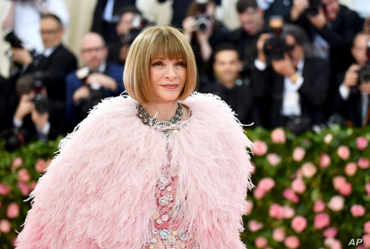 FILE - Vogue editor Anna Wintour attends The Metropolitan Museum of Art's Costume Institute gala.