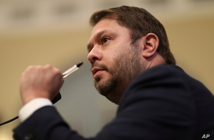 Rep. Ruben Gallego, D-Ariz., questions Acting U.S. Park Police Chief Gregory T. Monahan during a House Natural Resources…