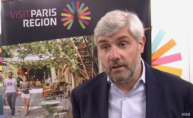 Christophe Decloux, Managing Director of the Paris Region Tourism Board, is confident Americans and other tourists will be back. But it might take time. (Lisa Bryant/VOA)