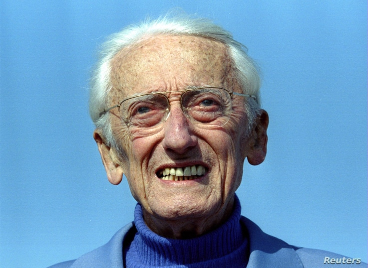 Captain Jacques Yves Cousteau poses on the french riviera April 9