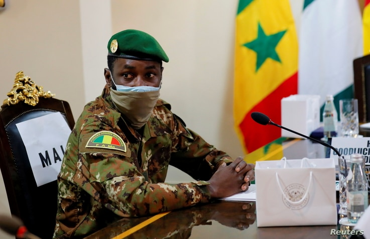 FILE PHOTO: Colonel Assimi Goita, leader of Malian military junta, attends the Economic Community of West African States …
