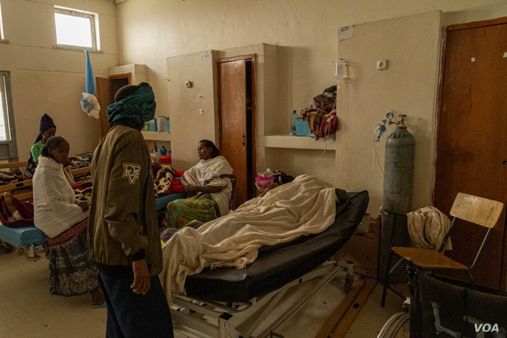 Since the war began last November, the Axum University Referral Hospital has never stopped receiving battle-wounded patients, in Axum, Ethiopia, June 10, 2021. (Yan Boechat/VOA)