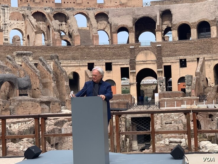 Diego Della Valle, who funded the works at the Colosseum
