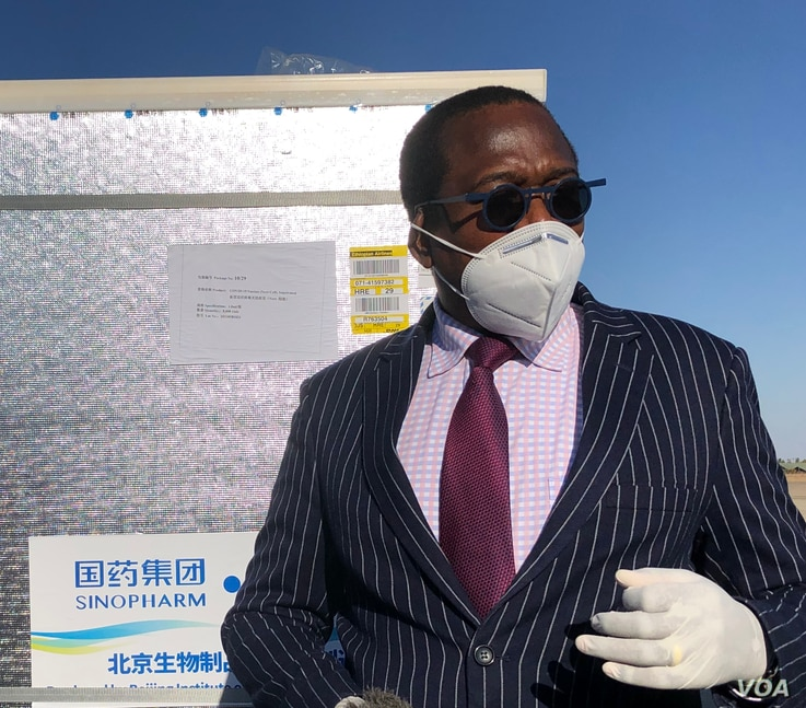 Zimbabwe Finance Minister Mthuli Ncube (Harare June 26, 2021) said his government would ensure that the country does not have a vaccine shortage in the future. ((ColumbusMavhunga/VOA))