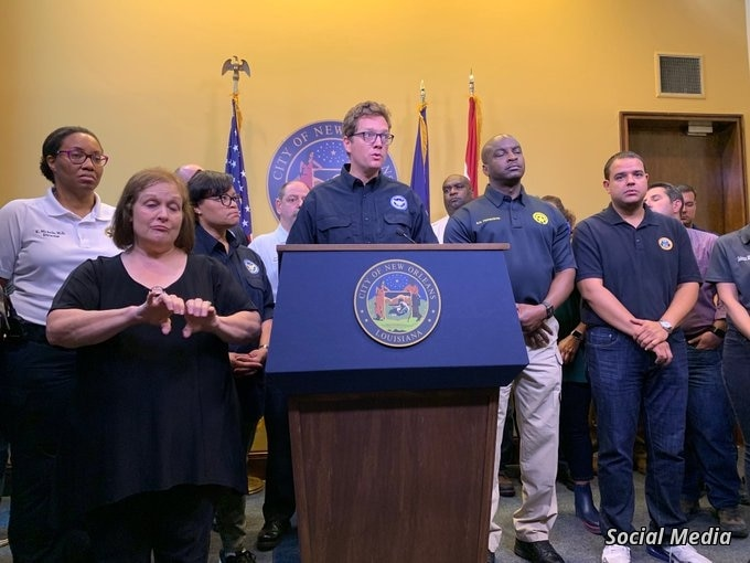 FILE - Deputy chief administrative officer for infrastructure in New Orleans Ramsey Green speaks to the media in New Orleans, Louisiana, July 13, 2019. (Twitter @beauvans)