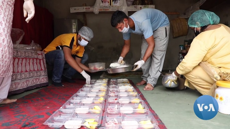 Meals are cooked for families who could not prepare their own food and kits of basic medicines given to the sick.