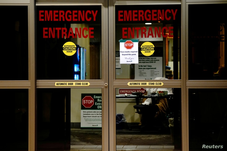 FILE PHOTO: FILE PHOTO: A view shows the entrance to the emergency room of Avera St. Luke's Hospital as the coronavirus disease...