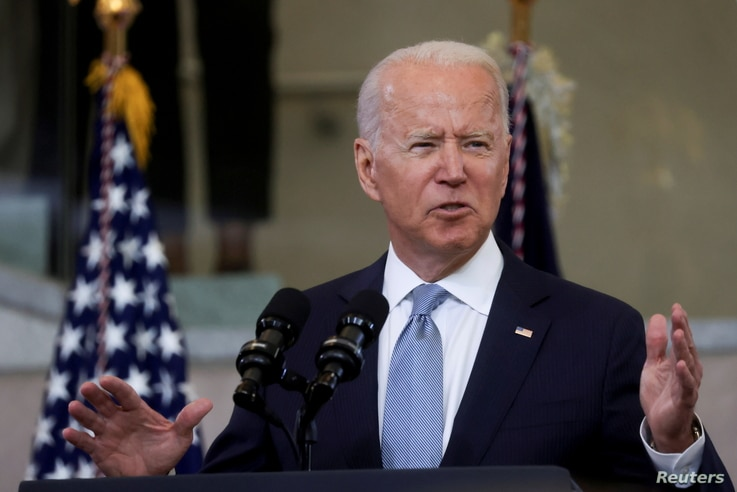 U.S. President Joe Biden delivers remarks on actions to protect voting rights in a speech at National Constitution Center in…