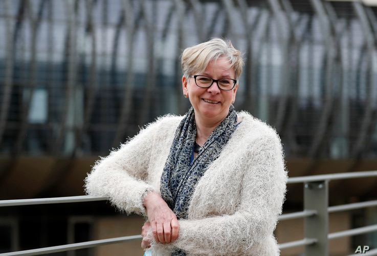 Professor Sharon Peacock poses for a photograph at the Wellcome Sanger Institute that is operated by Genome Research in…