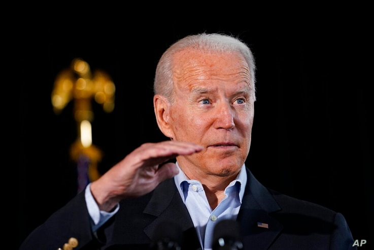 President Joe Biden speaks in Miami Beach, Fla., Thursday, July 1, 2021, about the condo tower that collapsed in Surfside, Fla…