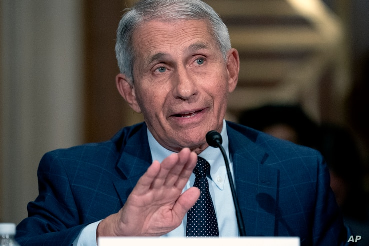 Dr. Anthony Fauci, director of the National Institute of Allergy and Infectious Diseases, testifies before the Senate Health, Education, Labor, and Pensions Committee at the Dirksen Senate Office Building in Washington, July 20, 2021.