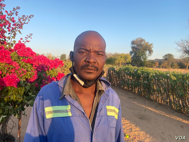 Morris Sibanda one of Dinde community in Zimbabwe's Hwange district says he is opposed to the coal mining project by Beifa Investments. (ColumbusMavhunga/VOA)