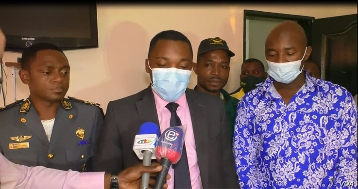 Harouna Nyandji Mgbatou is a senior government official, a division officer in Yaounde's first district, July 22, 2021. (Moki Edwin Kindzeka/VOA)