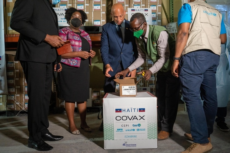 Haiti was the only country in the Americas without a single dose of a COVID-19 vaccine.  500,000 doses of vaccine donated by US through COVAX arrived on July 14, 2021.
