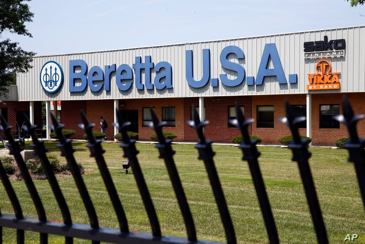 FILE - This Aug. 4, 2014 file photo shows the Beretta U.S.A. facility in Accokeek, Maryland. The Mexican government sued U.S...