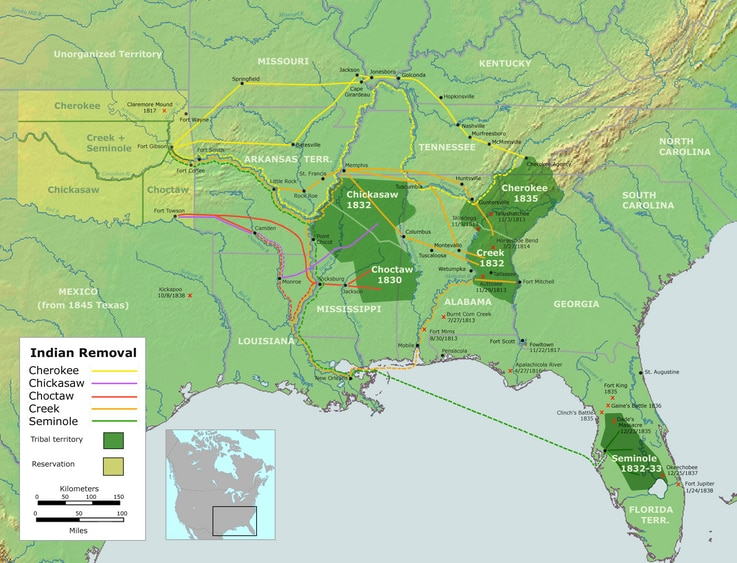Trail of Tears Map
