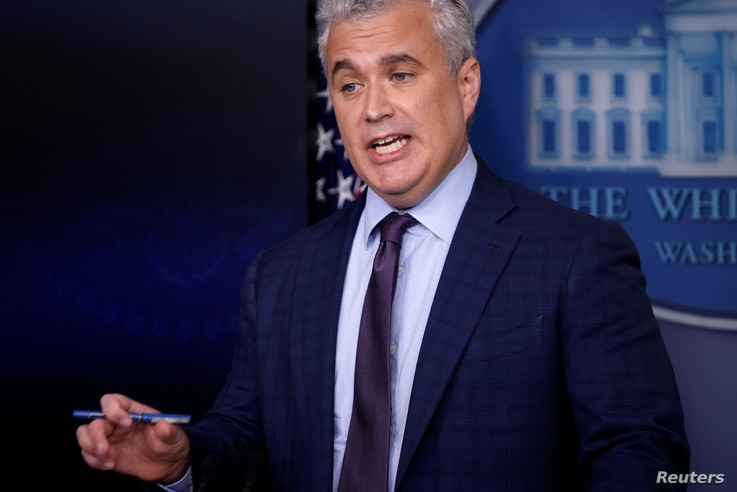 White House COVID-19 Response Coordinator Jeff Zients delivers remarks during a press briefing at the White House in Washington...