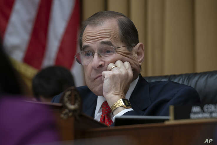 House Judiciary Committee Chair Jerrold Nadler, D-N.Y., listens as former special counsel Robert Mueller testifies about his investigation into President Donald Trump and Russian interference in the 2016 election, on Capitol Hill, July 24, 2019.