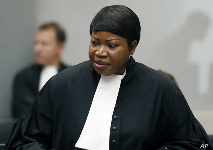 FILE - In this file photo dated Tuesday Aug. 28, 2018, Prosecutor Fatou Bensouda at the International Criminal Court (ICC) in The Hague, Netherlands.  The International Criminal Court's prosecutor Bensouda, on Friday June 7, 2019, sought to appeal…