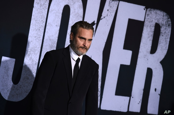 """Cast member Joaquin Phoenix arrives at the Los Angeles premiere of """"Joker"""" at TCL Chinese Theatre on Saturday, Sept. 28, 2019. …"""