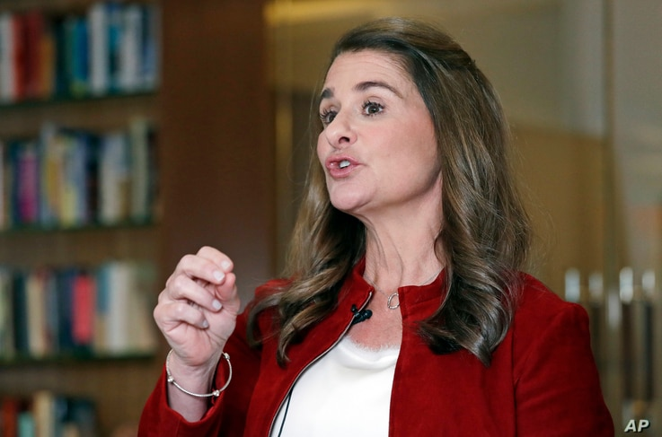 In this Feb. 1, 2019, Melinda Gates speaks while being interviewed in Kirkland, Wash. Bill and Melinda Gates are pushing back against a new wave of criticism about whether billionaire philanthropy is a force for good. The couple, whose foundation…