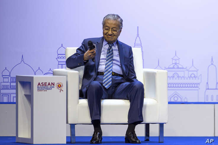 Malaysia Prime Minister Mahathir Mohamad participates in ASEAN Business and Investment Summit (ABIS) Nonthaburi, Thailand,…