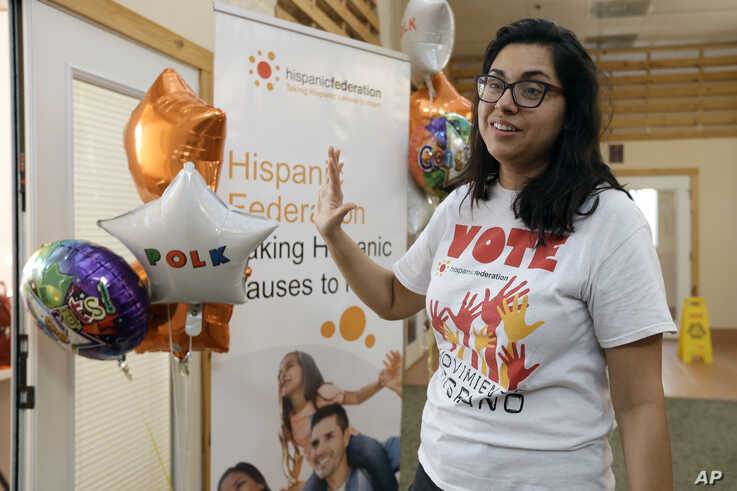 In this Dec. 10, 2019 photo, Maria Jose Chapa gestures during an interview after officially opening the first Hispanic…