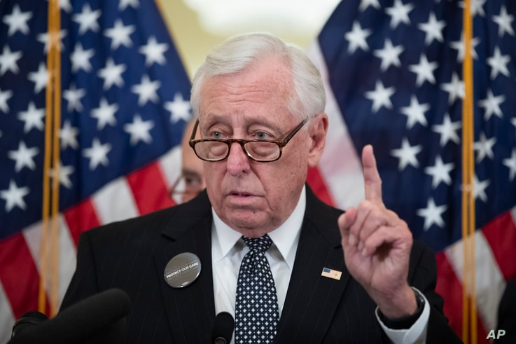 House Majority Leader Steny Hoyer of Md., speaks during a news conference on healthcare, on Capitol Hill, Tuesday, Feb. 4, 2020…