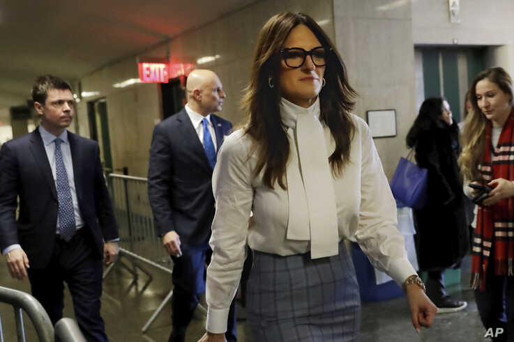 Defense attorney Donna Rotunno returns to the Harvey Weinstein rape trial courtroom after a break, in New York, Friday, Feb. 21…