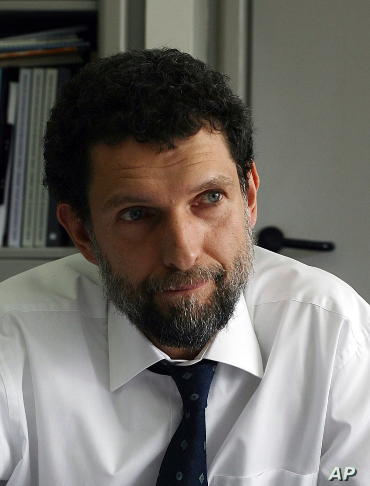 FILE - April 29, 2015 file photo of Osman Kavala, taken in Istanbul. Kavala, a Turkish businessman and activist who was…