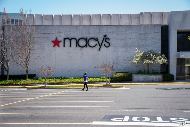 The Macy's store at the popular Tyson's Corner Center sits closed Monday, March 30, 2020, in McLean, Va., a Washington, D.C.,…