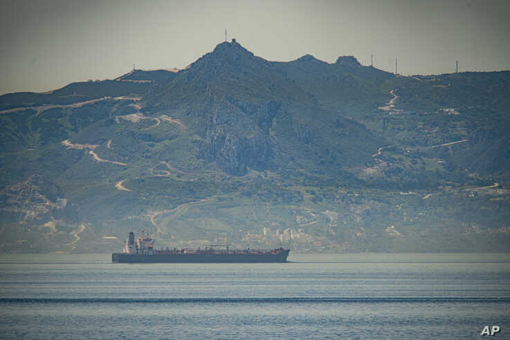 A view of the vessel the Clavel sailing on international waters crossing the Gibraltar stretch on Wednesday, May 20, 2020. Five…