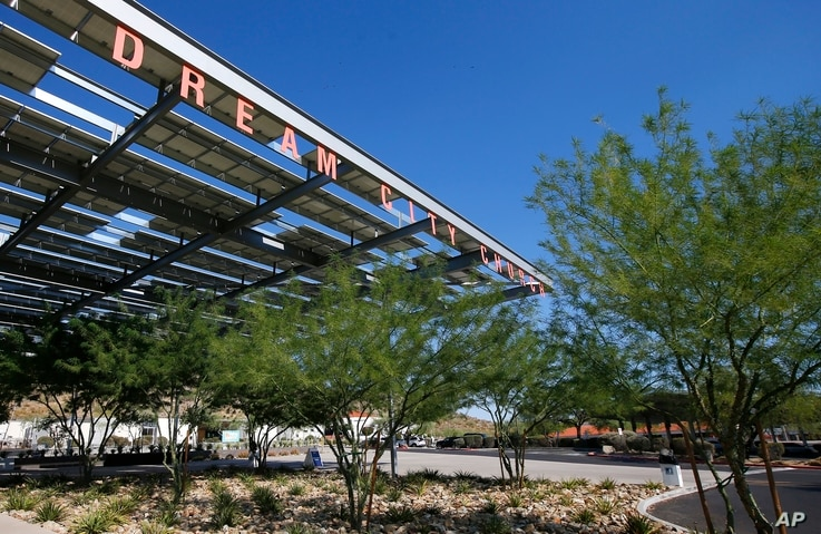 Dream City Church, shown Monday, June 22, 2020, in Phoenix, will host the Students for Trump convention, including a scheduled…