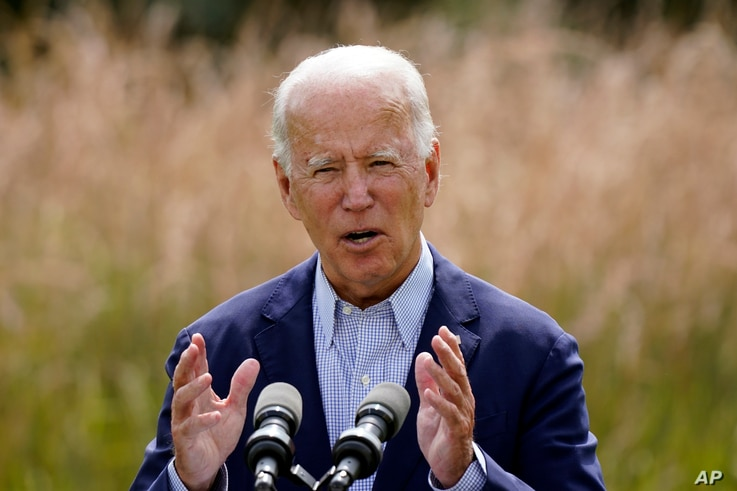 Democratic presidential candidate and former Vice President Joe Biden speaks about climate change and wildfires affecting…