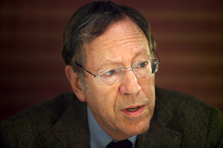 Former Canadian justice minister Irwin Cotler speaks to the media during a press conference in Jerusalem, Wednesday, Dec. 30,...
