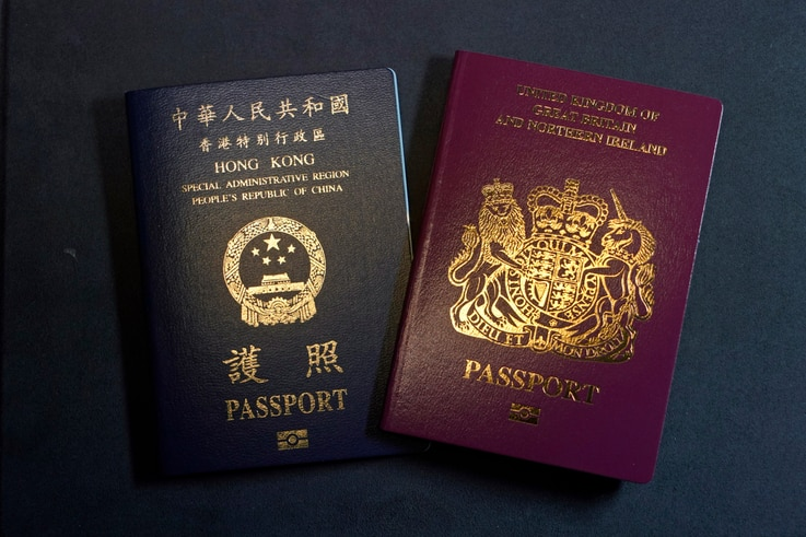 A British National Overseas passports (BNO) and a Hong Kong Special Administrative Region of the People's Republic of China…