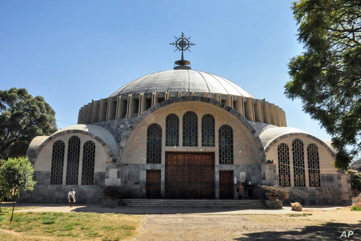 FILE - In this Monday, Nov. 4, 2013 file photo, the Church of St. Mary of Zion in Axum, in the Tigray region of Ethiopia. A new...