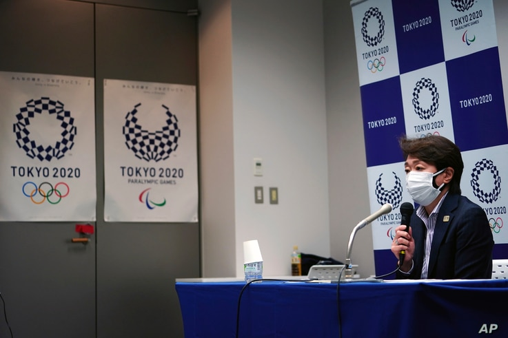 Seiko Hashimoto, president of the Tokyo 2020 Organizing Committee of the Olympic and Paralympic Games, speaks during a press…