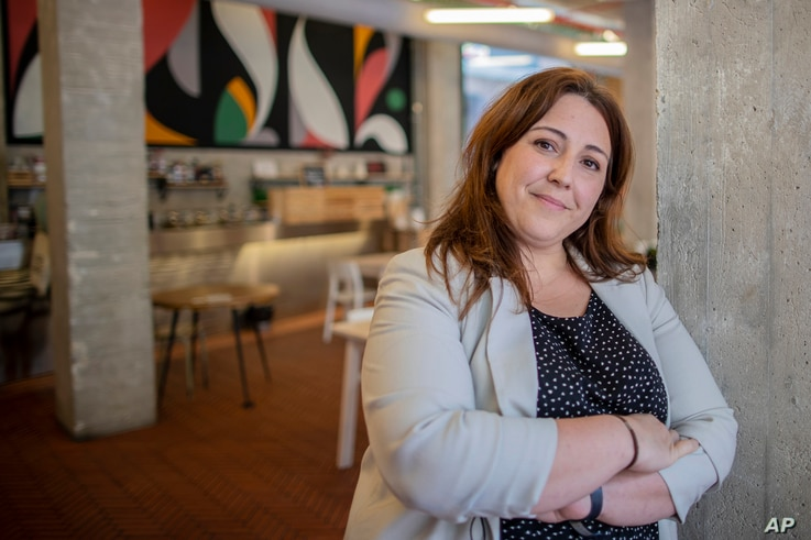 Maria Alvarez co-owner of La Francachela and founder of the Campaña 4 Suma poses for a picture at La Francachela restaurant in…