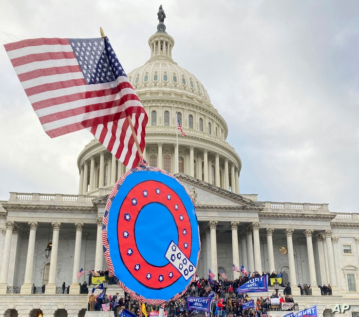 Photo by: zz/STRF/STAR MAX/IPx 2021 1/12/21 Twitter suspends 70,000 accounts linked to QAnon. STAR MAX File Photo: 1/6/21 The…