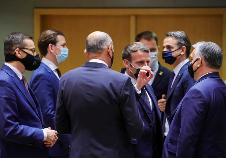 FILE PHOTO: EU leaders summit in Brussels