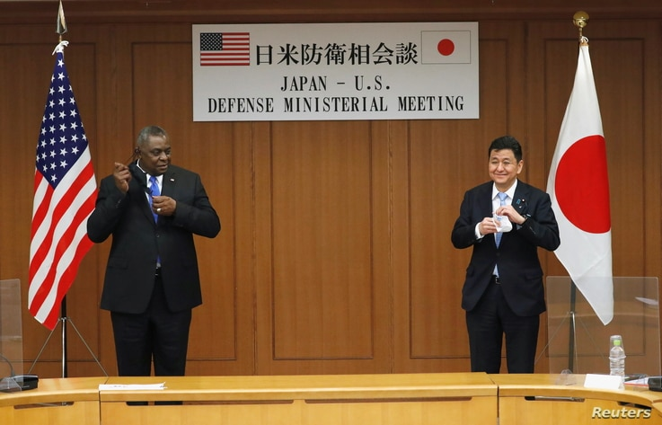 U.S. Secretary of Defense Lloyd Austin meets with his Japanese counterpart Defence Minister Nobuo Kishi in Tokyo