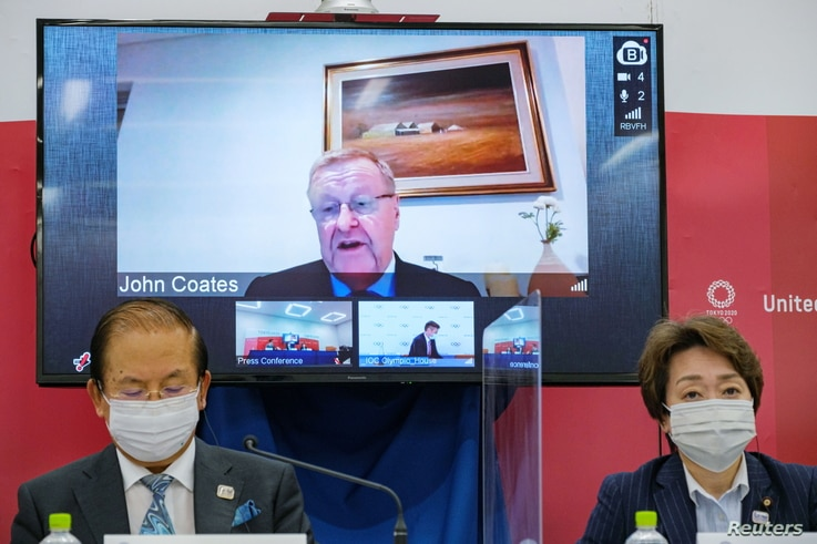 IOC and Tokyo 2020 Olympic organisers hold joint news conference in Tokyo