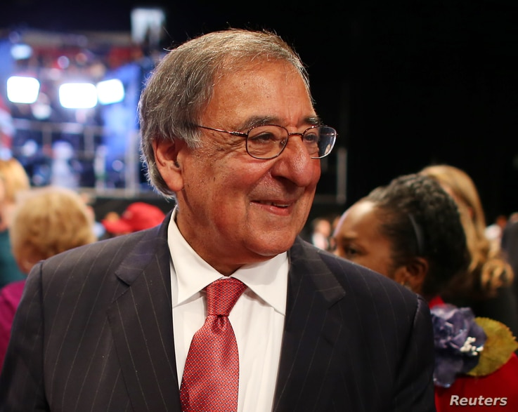 Former US Defense Secretary Leon Panetta arrives to attend the  third and final 2016 presidential campaign debate between Republican U.S. presidential nominee Donald Trump and Democratic nominee Hillary Clinton at UNLV in Las Vegas, Nevada, U.S., October 19, 2016. REUTERS/Mike Blake