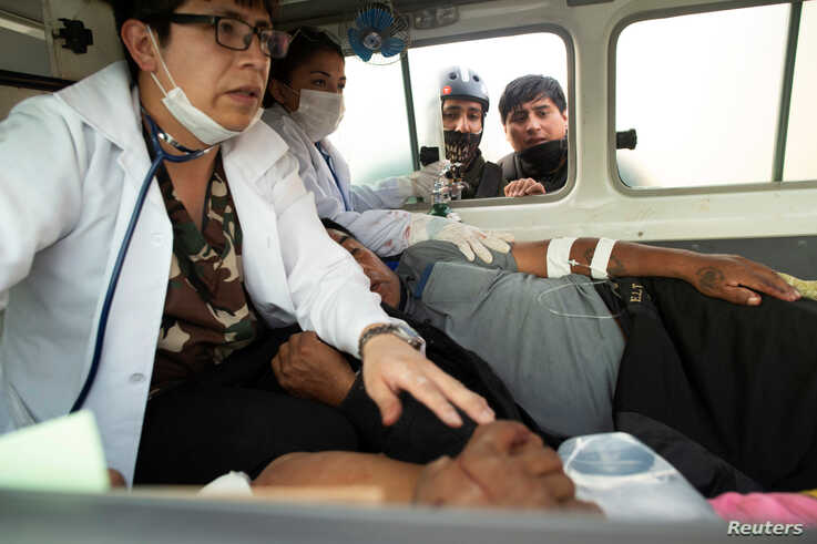 Injured demonstrators are seen inside an ambulance in Sacaba, on the outskirts of Cochabamba, Bolivia, November 15, 2019…