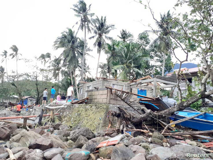 General view of storm debris in Biliran, Philippines December 26, 2019. in this picture obtained from social media. VERMALYN…