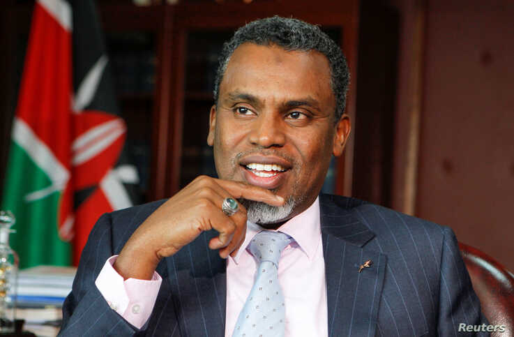 Kenya's Director of Public Prosecutions (DPP) Noordin Haji speaks during a Reuters interview at his office in Nairobi, Kenya…