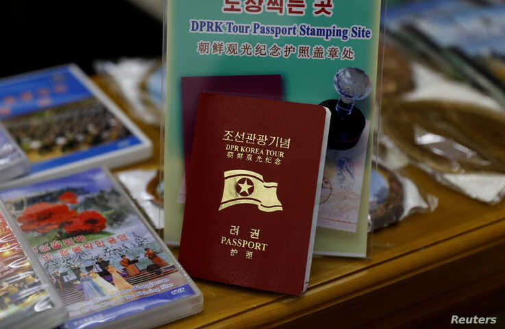 A North Korean tour passport is seen at a souvenir shop at Juche Tower in Pyongyang, North Korea, September 11, 2018. Picture…