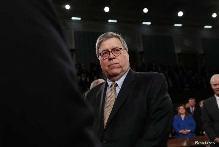 U.S. Attorney General William Barr arrives for U.S. President Donald Trump's State of the Union address to a joint session of…